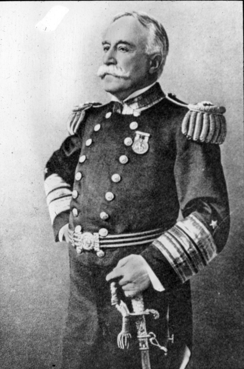 A picture of Admiral George Dewey who was president of the General Board and the Joint Army-Navy Board before the outbreak of World War One.