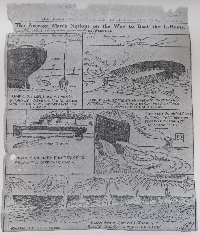 Humorous cartoon on anti-submarine warfare