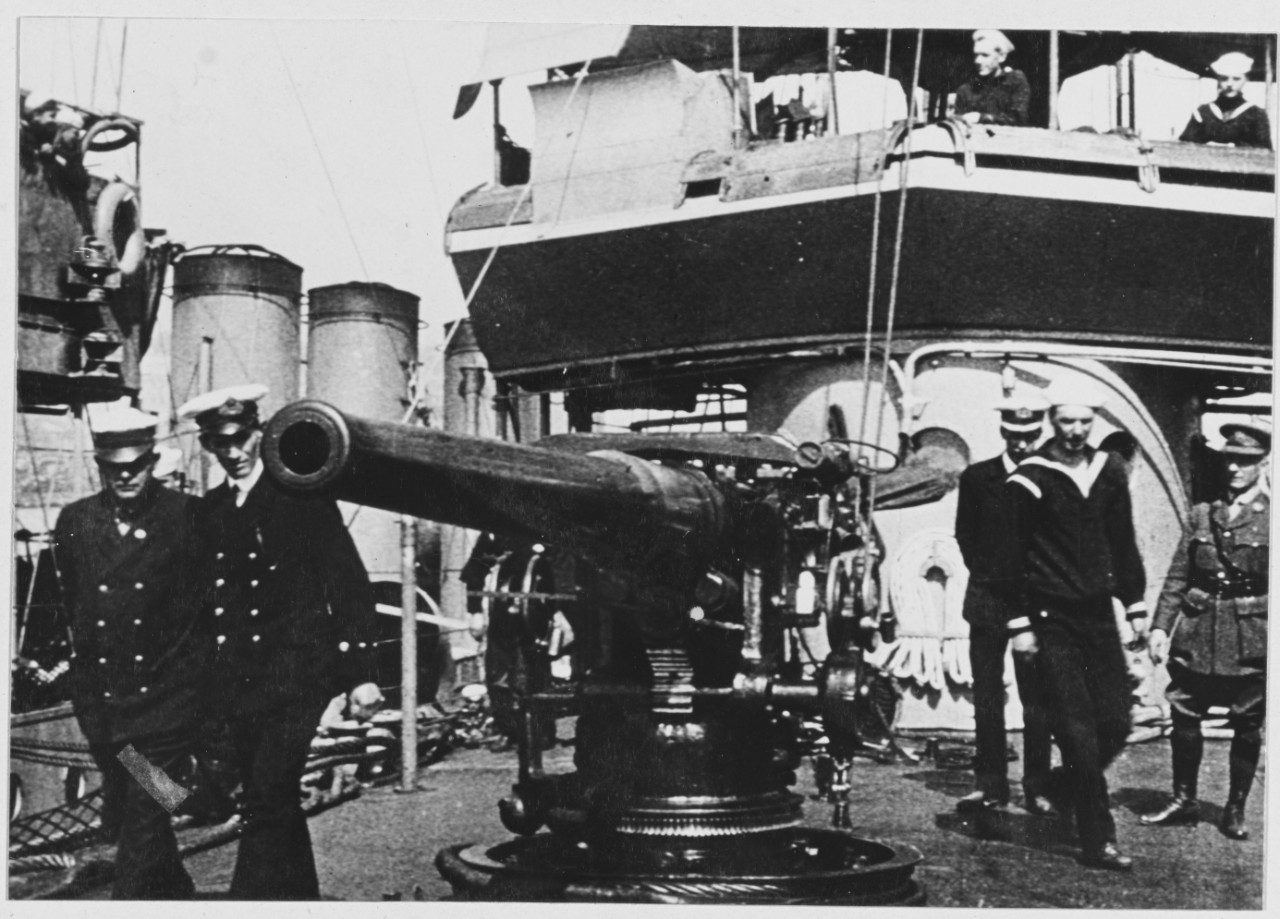 Forecastle gun of one of the destroyers of CDR Taussig's flotilla