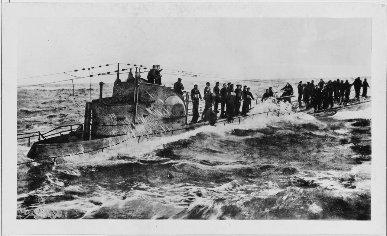 Capture of German Submarine U-58, 1917
