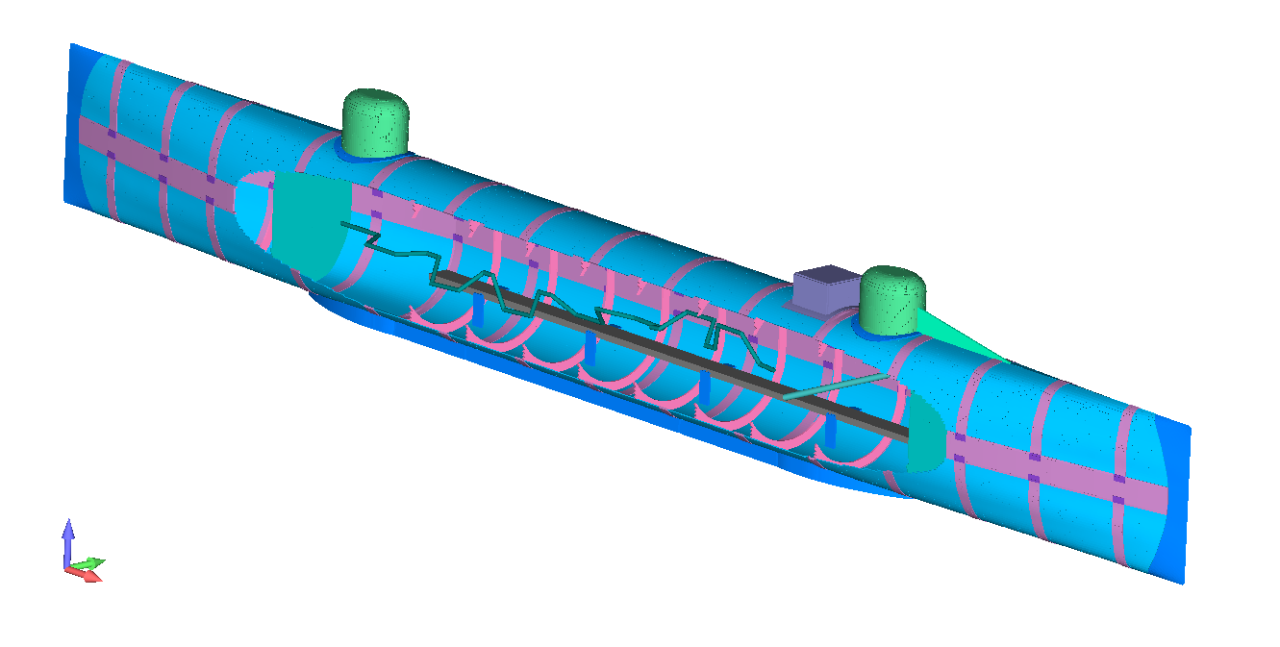 Finite Element Model of H. L. Hunley