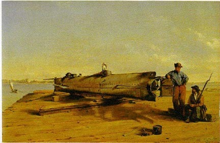 Figure 7. Conrad Wise Chapman's famous oil painting of the Hunley.