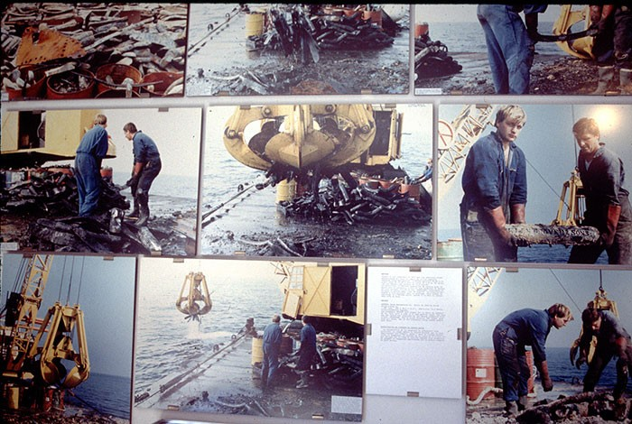Figure 5: A photographic collage of post-war salvage operations in Normandy.