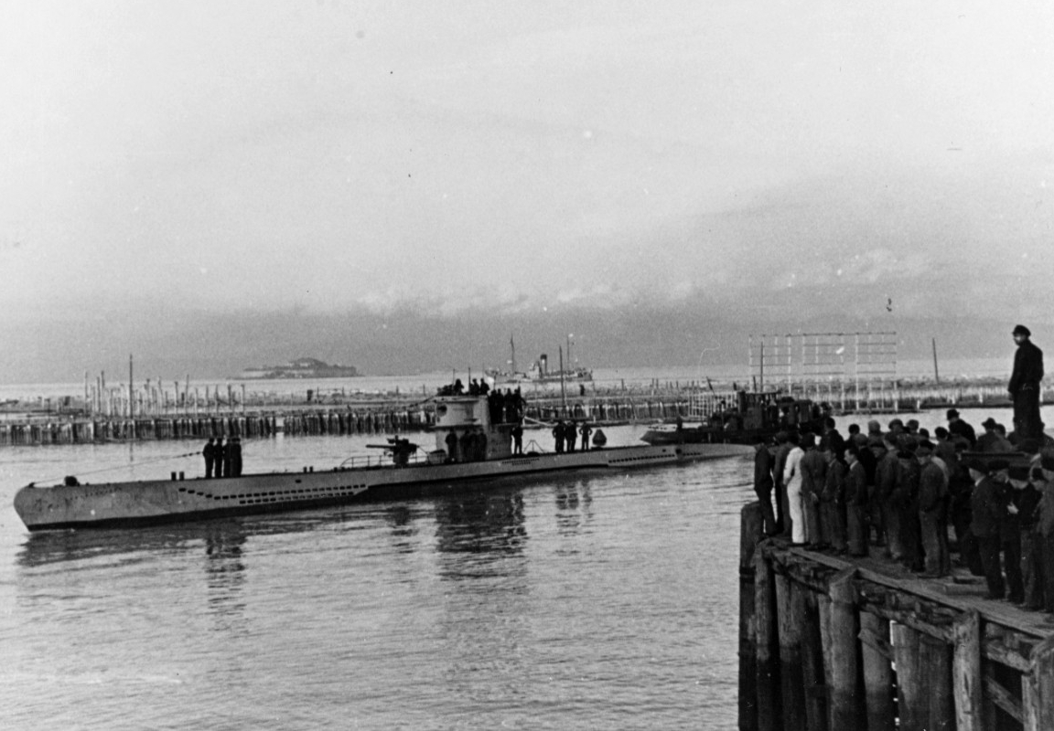 Photograph of German submarine of the same type as U-1105.