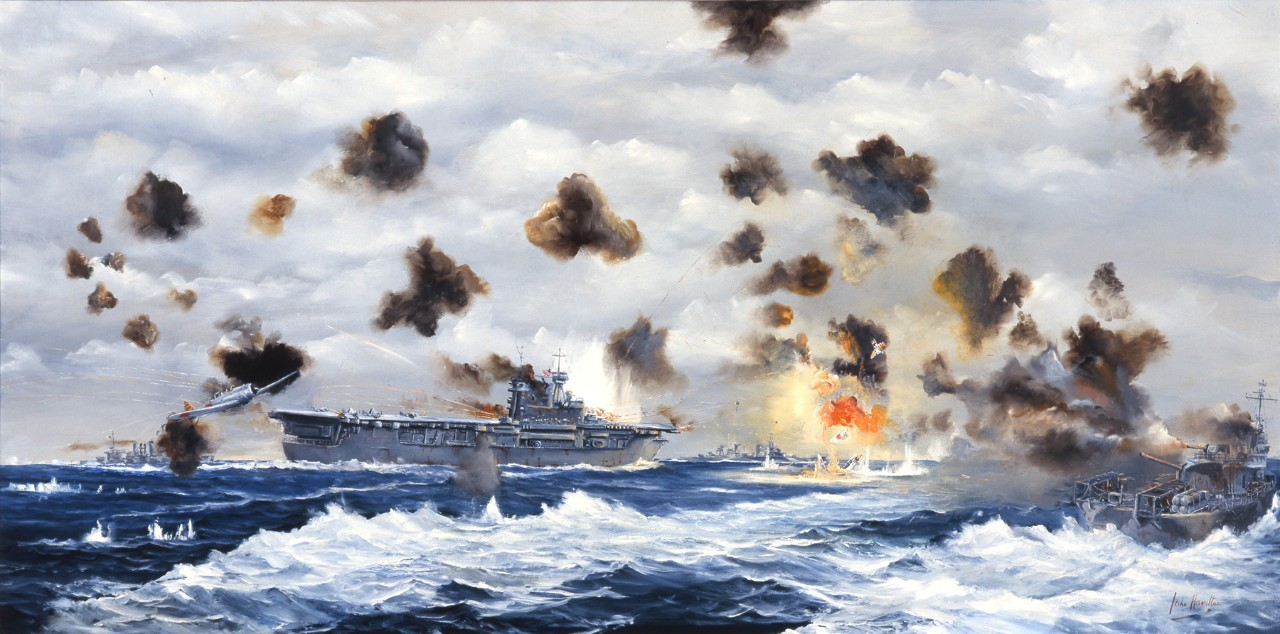 Air Attack on USS Yorktown 6/6/42